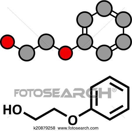 clip art of phenoxyethanol preservative molecule used in cosmetics rh fotosearch com USF Clip Art etc math clipart