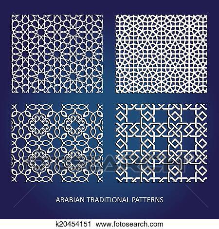 clipart of arabian patterns k20454151 search clip art