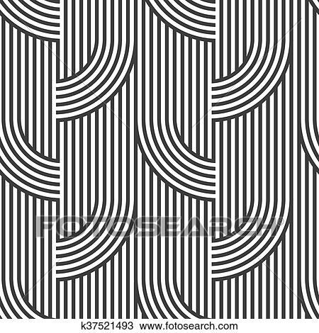 أسود و أبيض هندسي مخطط Seamless إقتدى Variation3 Clipart K37521493 Fotosearch