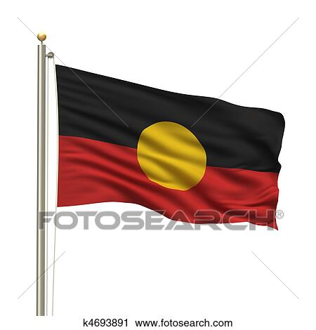 Aboriginal Flag Clip Art K4693891 Fotosearch