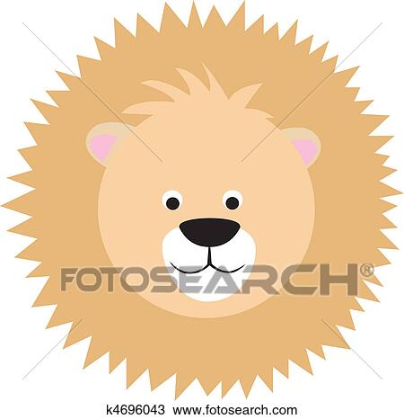 Cartoon Lion Face Drawing K4696043 Fotosearch