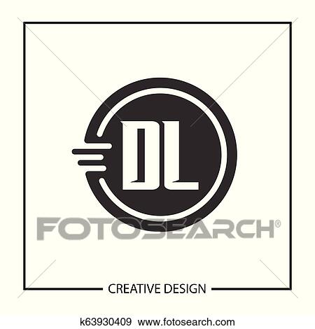 Initial Letter Dl Logo Template Design Vector Illustration Clip Art K63930409 Fotosearch