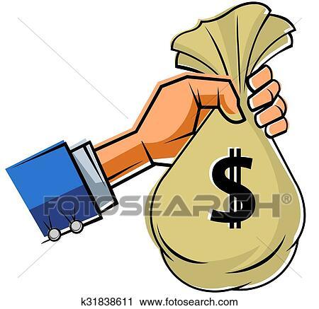 Dinero De Mano Tenencia Clipart Bolsa La q5wXdAxtP
