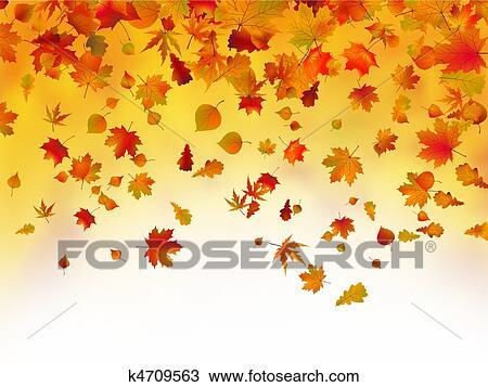 落ちている 紅葉 背景 クリップアート切り張りイラスト絵画集