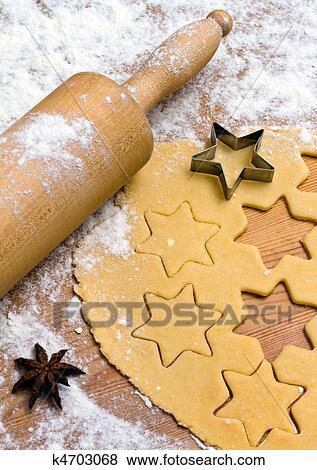 Kekse Backen Weihnachten.Backen Keksen Und Kekse Fur Weihnachten Stock Foto