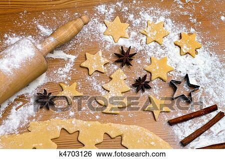 Kekse Backen Weihnachten.Backen Keksen Und Kekse Fur Weihnachten Stock Fotograf