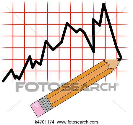 Zeichnungen - bleistift zeichnen, linie diagramm, auf, gitter ...