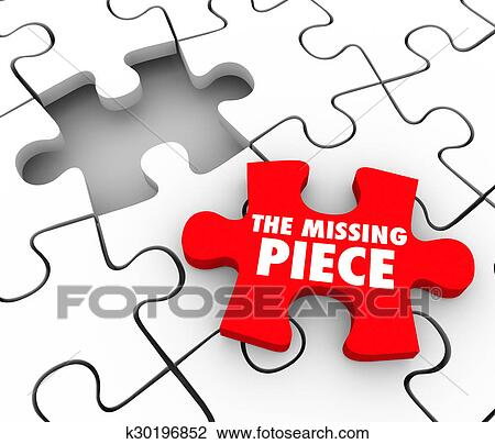 The Missing Piece Words On A Red Puzzle To Complete And Finish End Or Wrap Up Project Job Task Challenge