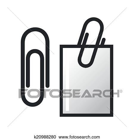 Clipart Buroklammer Und Papier K20988280 Suche Clip Art