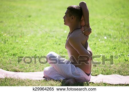 cow face yoga pose stock photography  k29964265  fotosearch