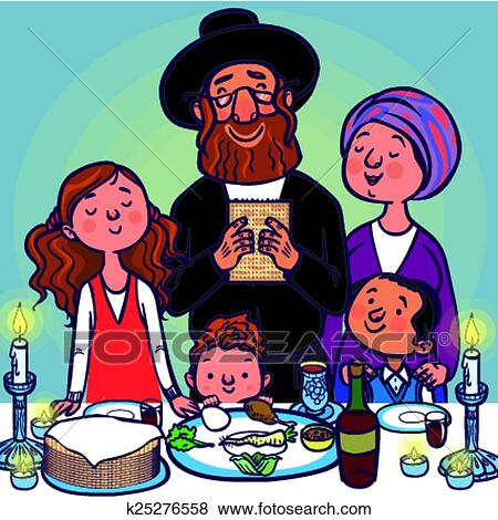 Clip art of funny happy jewish passover greeting card vector clip art funny happy jewish passover greeting card vector illustration fotosearch search m4hsunfo