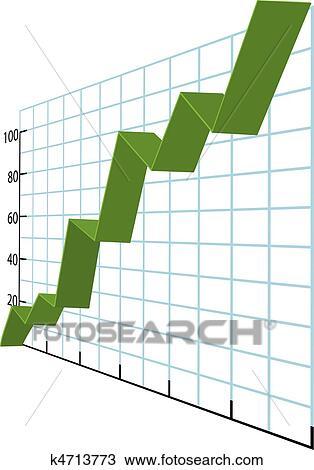 clipart of ribbon charts high growth business data graph k4713773 rh fotosearch com Church Growth Clip Art Business Clip Art