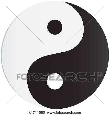 Clipart Of Yin Yang Symbol K4711560 Search Clip Art Illustration