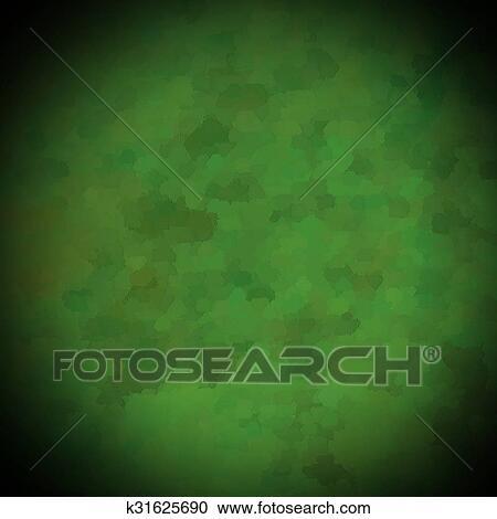 Bello Sfondo Verde Illustrazione Disegno Con Elegante Scuro