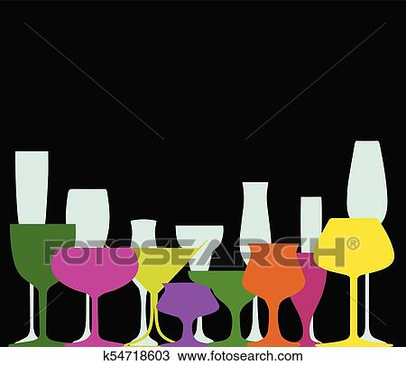 Cocktail Party Clipart K54718603 Fotosearch