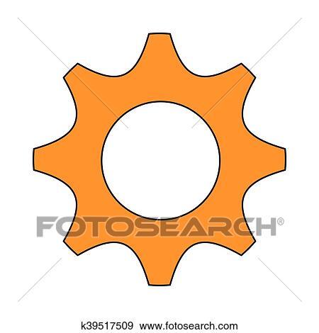 Engrenagem Dente Parte Maquina Desenho Clipart K39517509