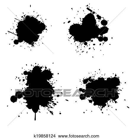 clipart of grunge splatter k19858124 search clip art illustration