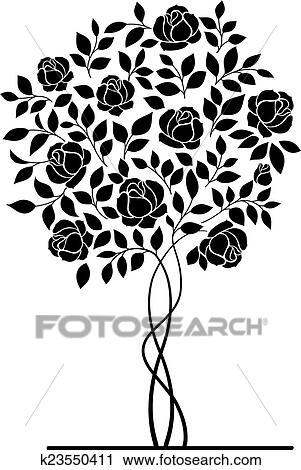 clipart of rose bush k23550411 search clip art illustration