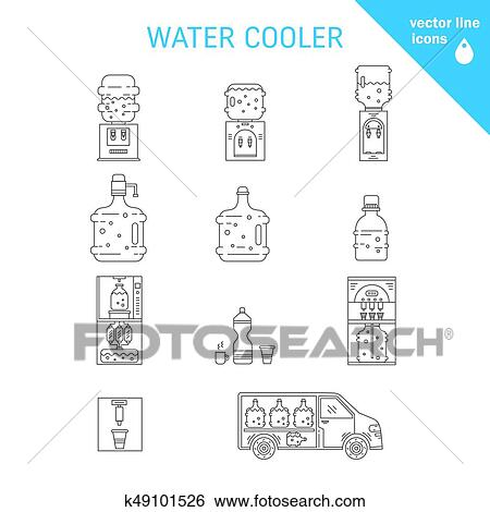 outlet store various design another chance Water delivery collections Clip Art | k49101526 | Fotosearch