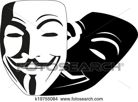 Clipart   White Mask Anonymous Vector. Fotosearch   Search Clip Art,  Illustration Murals,