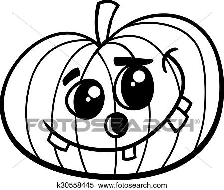 Halloween Citrouille Livre Coloration Clipart