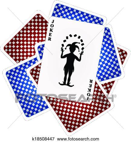 Clip Art Karty Do Gry I Joker K18508447 Szukaj Kliparty