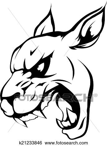 Panther Puma Or Wildcat Mascot Clip Art K21233846 Fotosearch