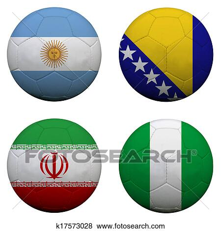Colección de ilustraciones - pelotas fútbol ba3336895b16c