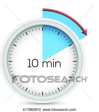 clipart of ten minutes timer k17662810 search clip art