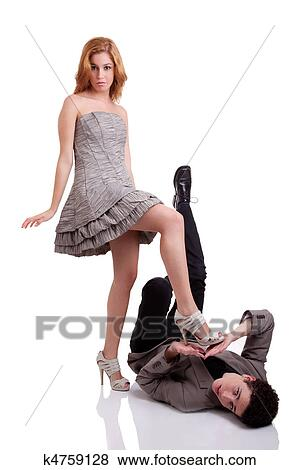 Woman Stepping On Man Pictures of beautiful ...