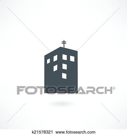Klipart Budova Znak K21578321 Hledat Klipart Dekorace Na Zdi Z