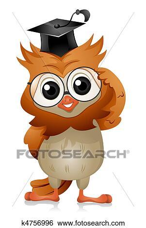Coruja Oculos Arquivos De Ilustracao K4756996 Fotosearch