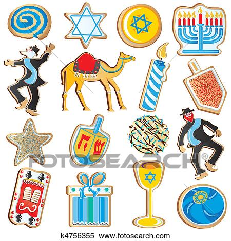 clipart of jewish chanukah cookies k4756355 search clip art rh fotosearch com jewish clip art images jewish clip art pictures