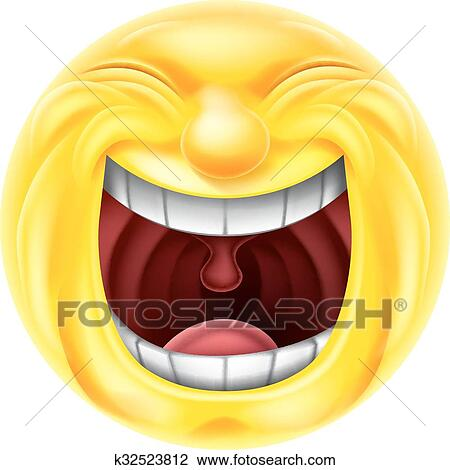 a very happy cartoon emotion emoji icon laughing hysterically