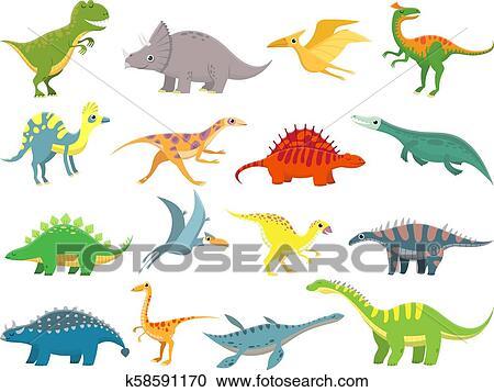Lindo Bebe Dinosaur Dinosaurios Dragon Y Divertido Dino Character Fantasia Caricatura Dinosaurios Vector Ilustracion Conjunto Clipart K58591170 Fotosearch Acuarela set cliparts dinosaurios lindos. lindo bebe dinosaur dinosaurios dragon y divertido dino character fantasia caricatura dinosaurios vector ilustracion conjunto clipart