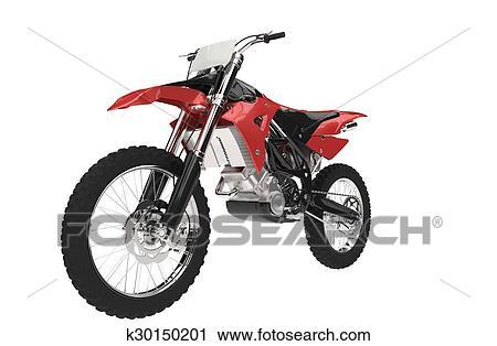 Nero Rosso Motocross Bicicletta Clip Art