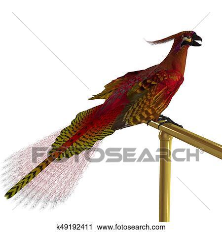 clipart of phoenix bird on perch k49192411 search clip art