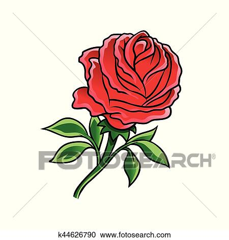 Clipart Rose Rouge Fleur K44626790 Recherchez Des Clip Arts