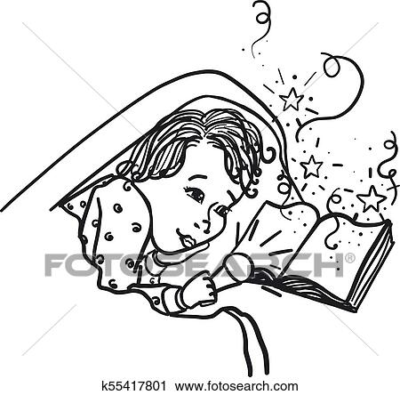 Child Under The Covers With A Flashlight Reading A Book Dreams
