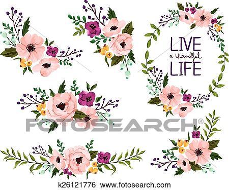 Clipart Fleur Aquarelle K26121776 Recherchez Des Cliparts Des