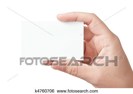 Stock images of hand holding blank business card k4760706 search hand holding blank business card colourmoves