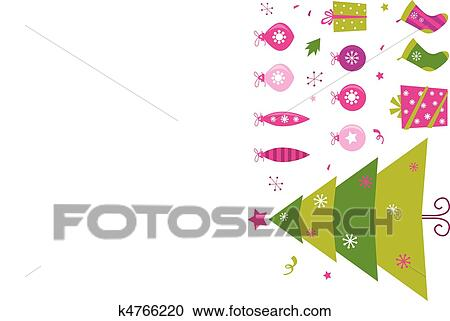 a77df2a1d436a Clipart - Pink and green retro christmas icon. Fotosearch