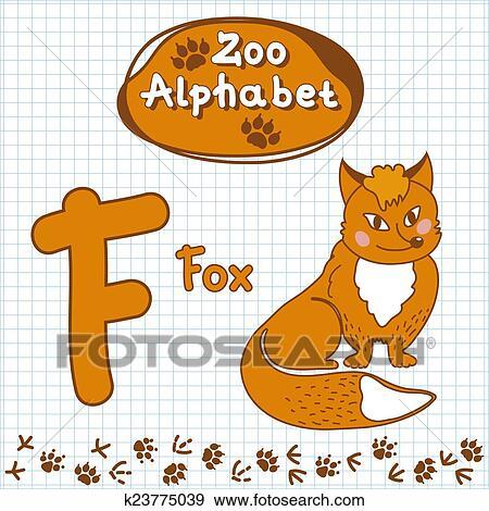 Colección de ilustraciones - colorido, niños, alfabeto, con ...