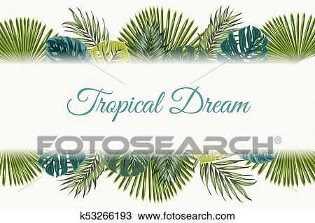 Exotic Tropical Leaves Top Bottom Border Frame Clipart K53266193 Fotosearch ✓ free for commercial use ✓ high quality images. exotic tropical leaves top bottom