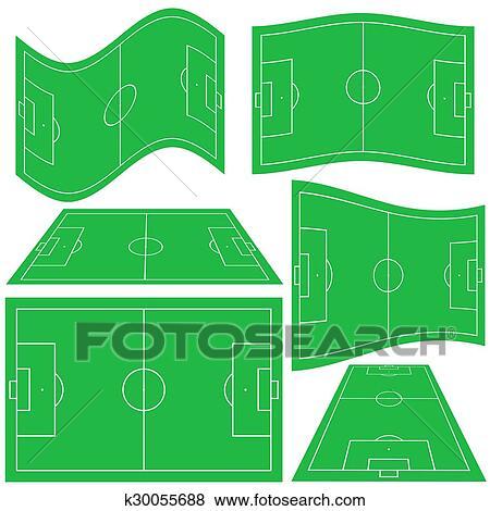Fussballplatz Clip Art