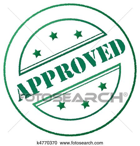 stock illustrations of stamp approved k4770370 search clipart