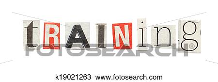 Stock photo of training cutout newspaper letters k19021263 search training words composed from isolated cutout newspaper letters spiritdancerdesigns Choice Image