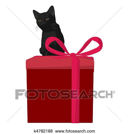 クリスマス ネコ イラスト イラスト K4782188 Fotosearch