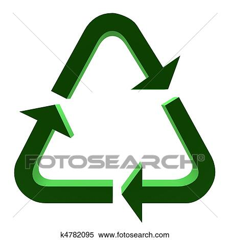 Stock Illustration Of 3d Recycle Symbol K4782095 Search Clipart