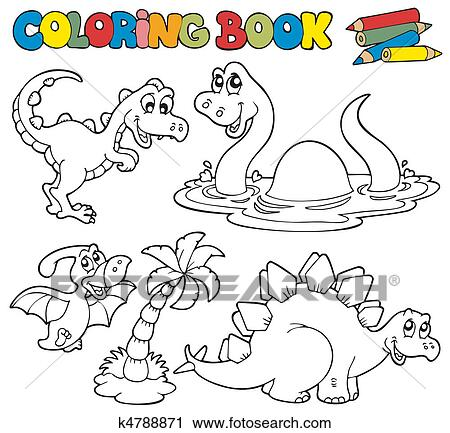 Clipart Ausmalbilder Mit Dinosaurier 1 K4788871 Suche Clip